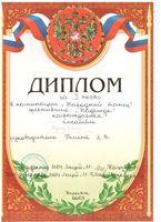 Ансамбль «Щедрик» награжден дипломом за 1 место в номинации «Народный танец»