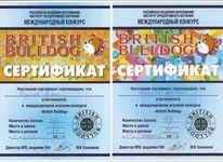 Артем Борисов награжден за участие в игровом конкурсе по английскому языку «British Bulldog». Он набрал 147 баллов