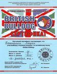 Каширина Мария награждается за участие в игровом конкурсе по английскому языку «British Bulldog»