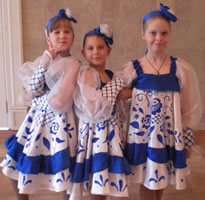 Костюмы для танца «Гжель»