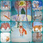 19-31 декабря в «Светлячке» прошла художественная выставка группы изобразительного искусства «Зима»