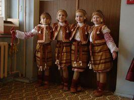 Младшая группа «Щедрика» перед выступлением.