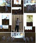 Литературно-танцевальный концерт «Рождество у С. Есенина. Мелодии стиха и танца» в Химкинской школе №27, 2017