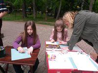 Группа «Изобразительное искусство» студии «Светлячок» в парке им. Л.Н. Толстого в День защиты детей